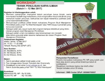 Workshop Jurnal