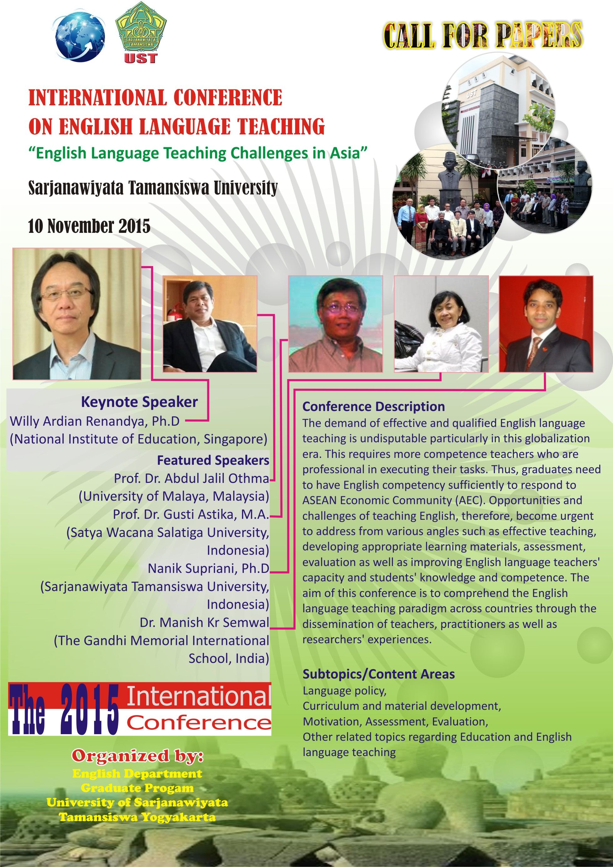 "Seminar Internasional ""English Language Teaching Challenges in Asia"""
